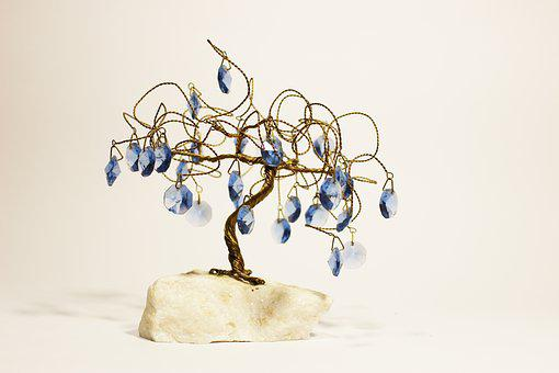 Sapling, Crystal, Copper, Silica, Macro, Tree, Stone