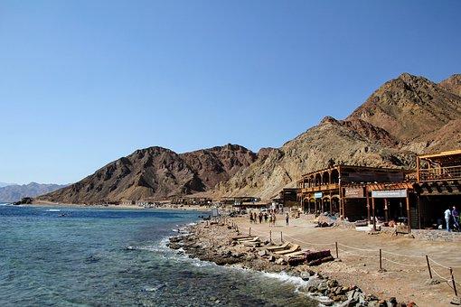 Dahab, Blue Hole, Beach, Egypt, Sky, Sea, Red Sea