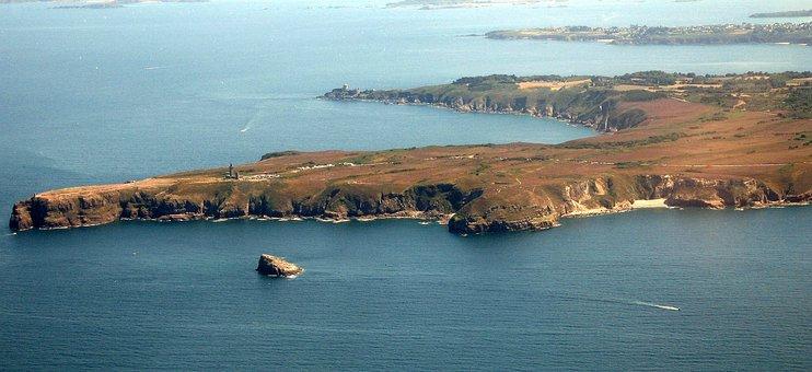 Cap Fréhel, Brittany, Aerial View, Sea