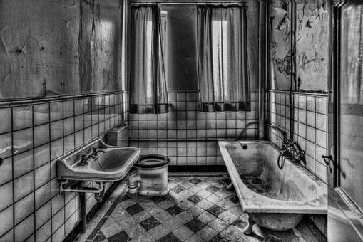 Room, Bathroom, Interior, Bath, Indoor, Black And White