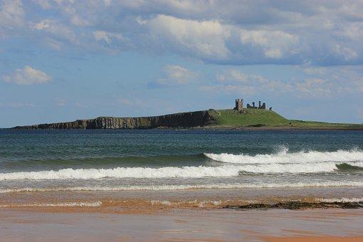 Dunstanburgh Castle, Northumberland, Castle, Coast
