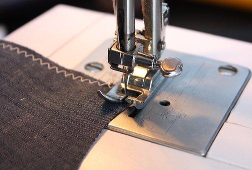 Sew, Sewing Machine, Fabric, Handarbeiten, Diy
