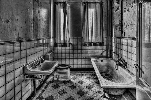 Room, Bathroom, Interior, Bath, Indoor, Black And White