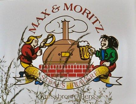Shield, Board, Inn, Brewery, Max And Moritz, Kressbronn