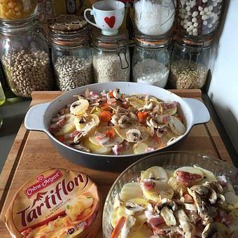 Tartiflette, Cheese, Kitchen