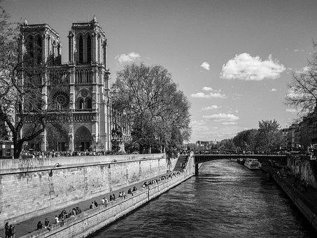 Notre Damme, Cathedral, France, Paris, City center