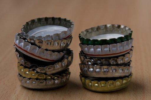 Crown Seals, Crown Caps, Stack, Pile, Crown Corks