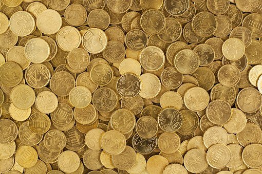 Euro, Coins, Currency, Money, Yellow, Market, Europe