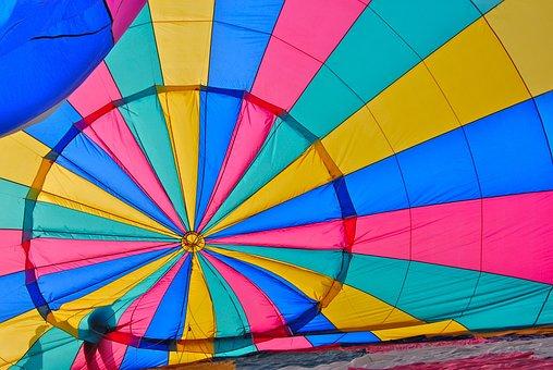 Hot-air Ballooning, Ball, Color, Helium, Interior, Sun
