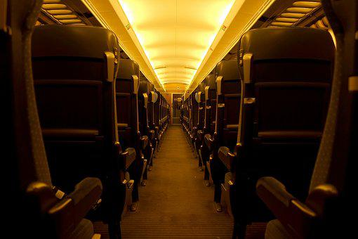 Railway Compartment, Intercity, Train, Railway