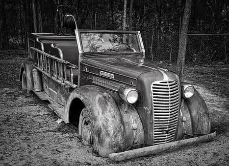 Fire Engine, Automobile, Truck, Retro, Antique, Vehicle