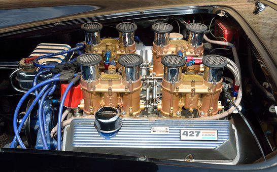 Car Engine, Automobile, Classic, Vintage, Motor