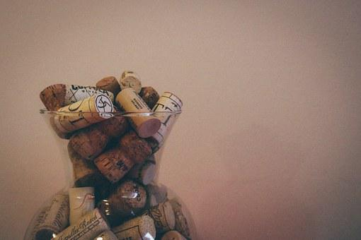 Wine, Champagne, Cork, Corks In A Vase, Drink, Red
