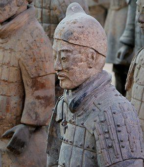 Terracotta Army, China, Xi'an, Soldier, Statue, Buried