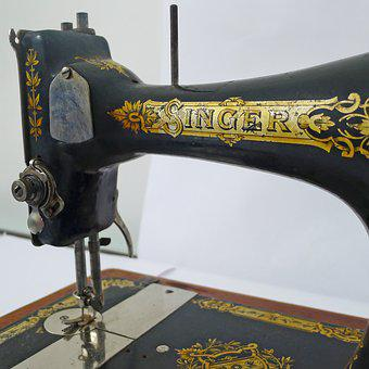 Singer, Machine, Sew, Ancient, Sewing, Handicraft