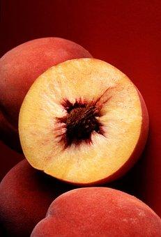 Peach, Red, Autumn, Peaches, Fruits, Plants, Flora