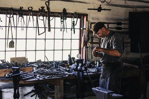 Adult, Artisan, Craftsman, Equipments, Grinder, Indoors