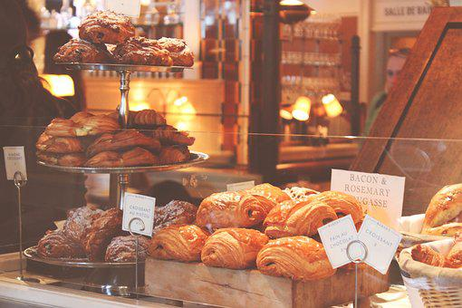 Baked Goods, Bakery, Bread, Commerce, Croissants