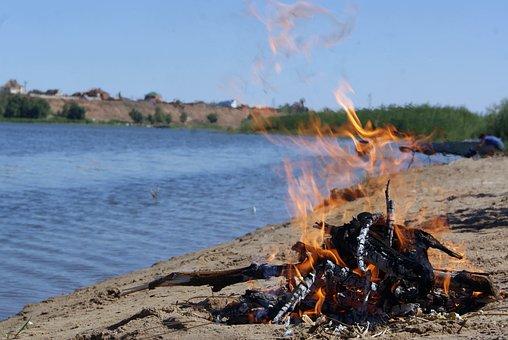 Bonfire, Flame, Fire, Summer, Tourism, Koster
