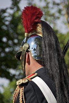 Republican Guard, Paris, France, Helmet, Man, Military