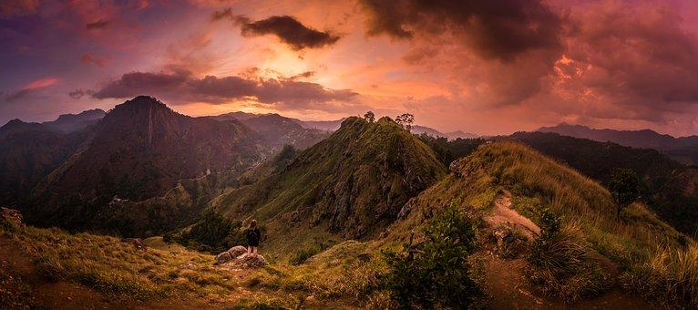 Adventure, Dawn, Daylight, Dusk, Hiker, Hiking, Hill