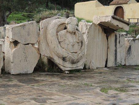 Eleusis, Attica, Greece, Statue, Stonework, Stone