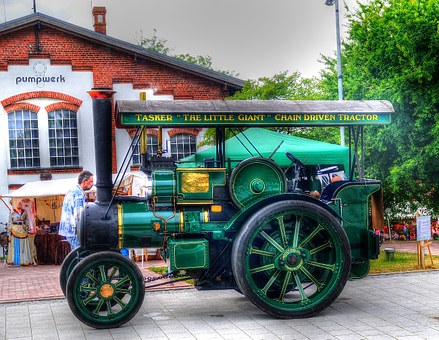Tractor, Steam Engine, Tractors, Vehicle, Old