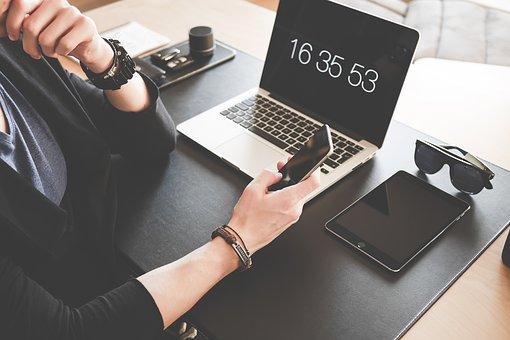 Arm, Black, Bracelet, Cellphone, Computer, Connection