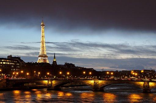 Paris, France, Eiffel Tower, Architecture, Bridge