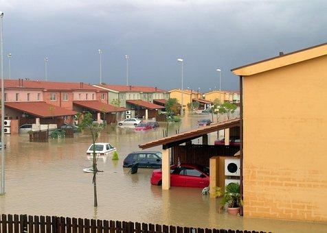 Sigonella, Sicily, Landscape, Houses, Homes, Flood
