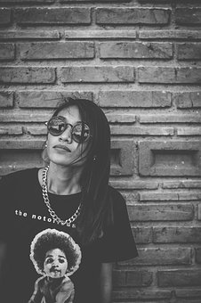 Brick Wall, Fashion, Necklace, Person, Woman