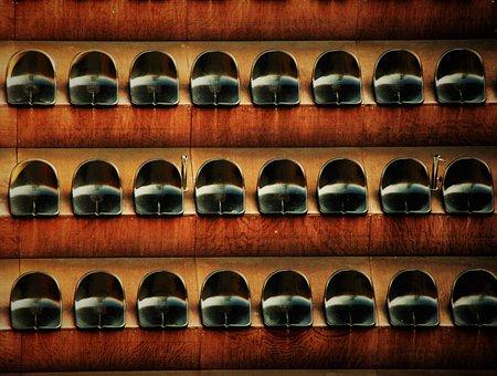Chair Series, Rows Of Chairs, Chair, Cinema, Series