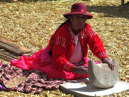 Uros, Titicaca, Peru, Tradition, Grind
