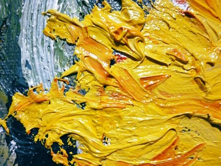 Oil, Yellow, Painting, Flower, Sunflower, Art