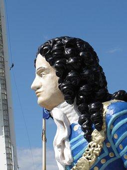 Ship, Figurehead, Figure, Man, Person, Climber