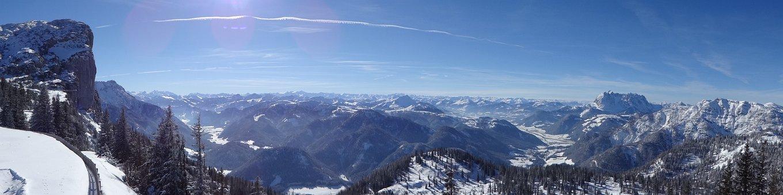 Alpine, Austria, Steinplatte, Ski Area, Panorama