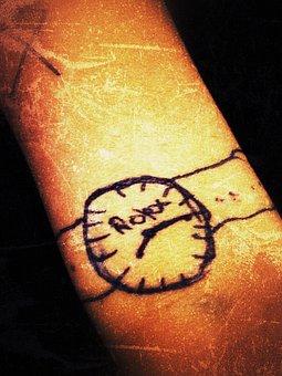 Watch, Tattoo, Wrist Watch, Wristwatch, Analog Clock