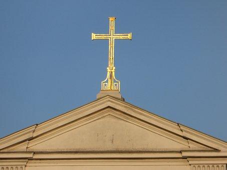 Cross, Church, Faith, Religion, Architecture