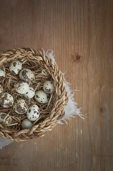 Basket, Egg, Quail Eggs, Small, Small Eggs