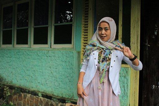 Woman, Muslim, Hijab, Classic, Face, Stylish, Diversity