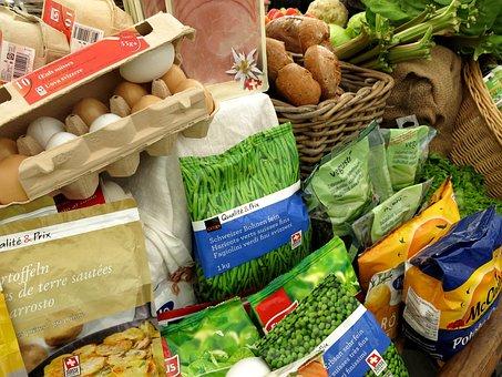 Egg, Vegetables, Food, Range, Compilation, Peas, Basket