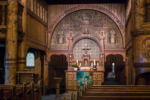 Stave Church, Altar, Cross, Church, Goslar-hahnenklee