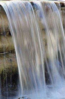 Water, Flow, Fluent, Waterfall, Plunge, Liquid, Wet
