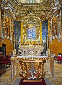 Nice, Cathedral, Main Altar, Palatial, Italian Baroque