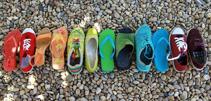 Shoes, Rainbow, Lgbt, Red, Orange, Purple, Yellow