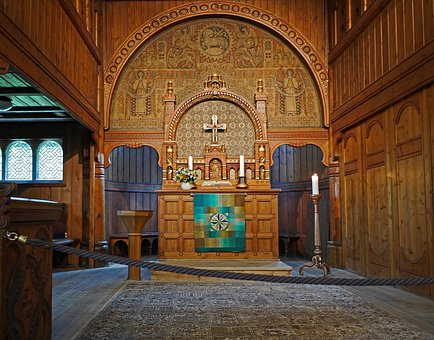 Stave Church, Sanctuary, Timber Construction, Artfully