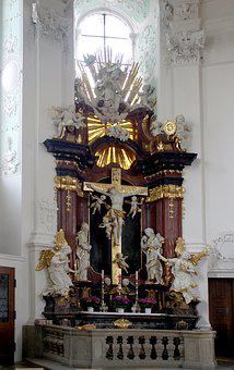 Basilica, Vierzehnheiligen, Side Altar, Christian