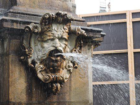 Spout, Water, Fountain, Czech Budejovice, Square