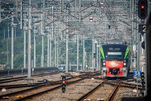 Chuncheon, Railway, Train, Landscape, Gyeongchun Line