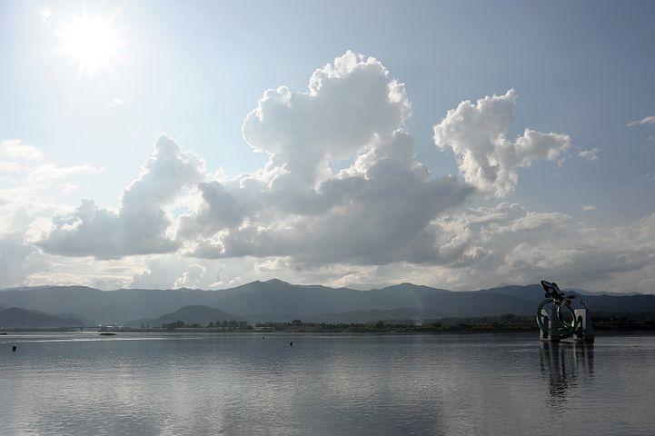 Chuncheon, Soyang River, River, Sky